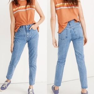 Striped Madewell Jeans NWT
